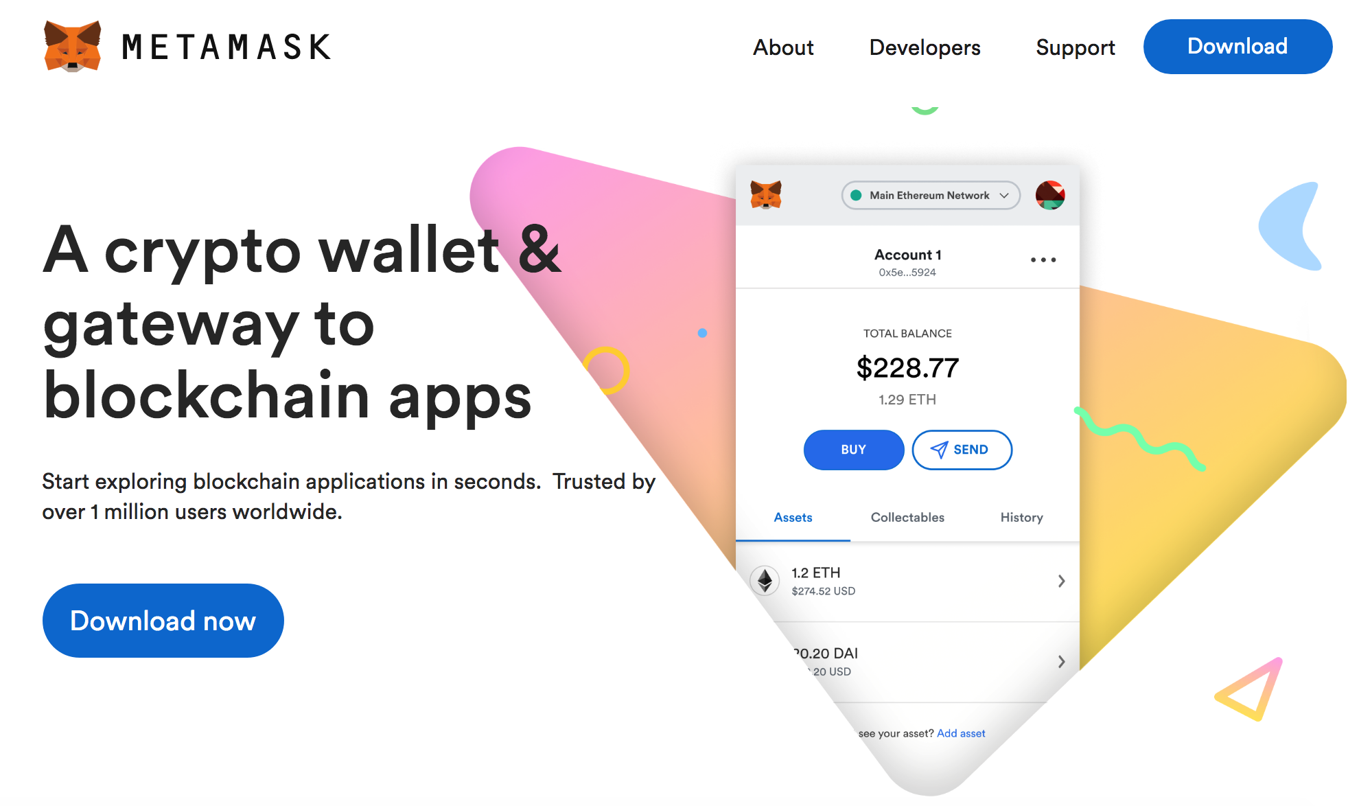 MetaMask wallet for ETH