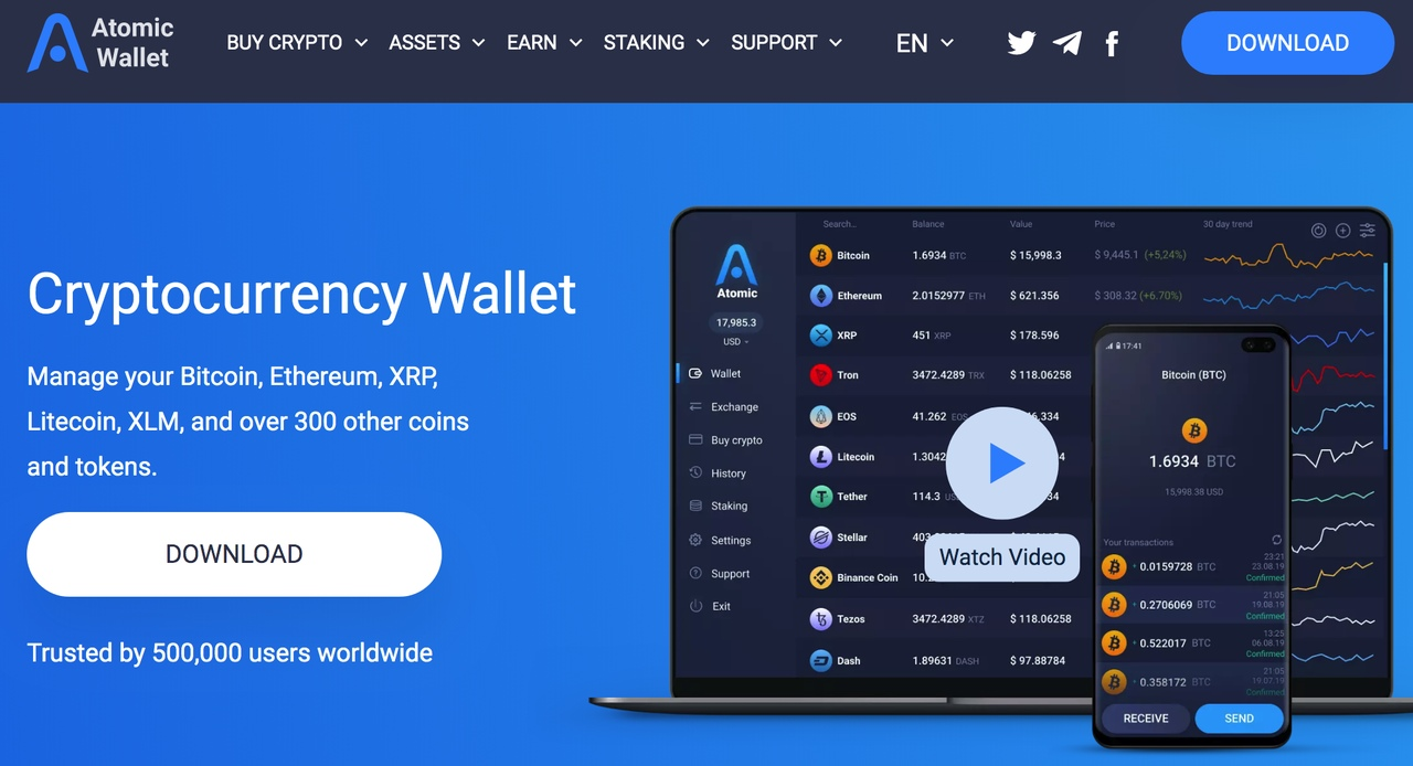 Atomic multicurrency wallet