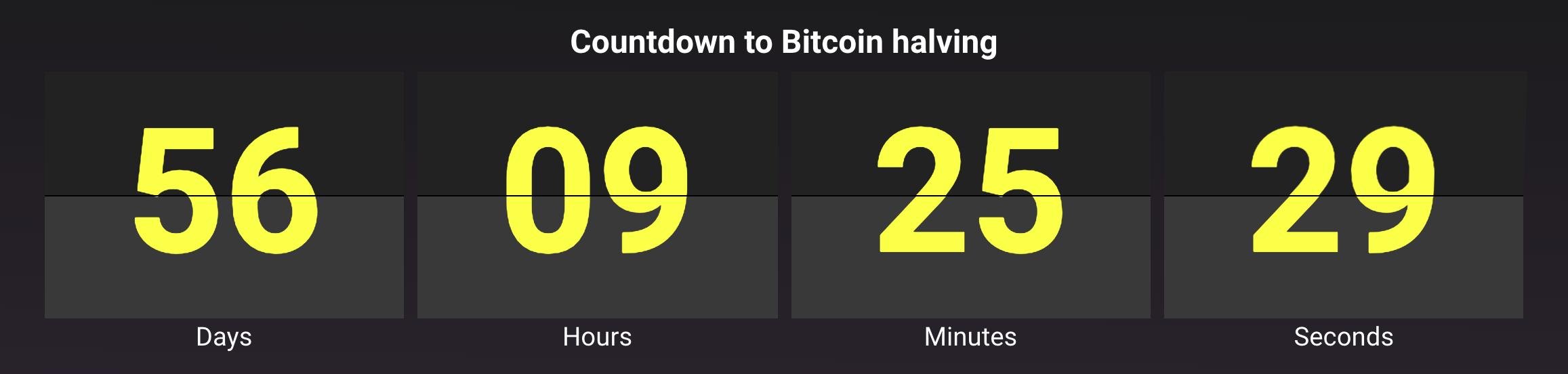 BTC Halving Timer