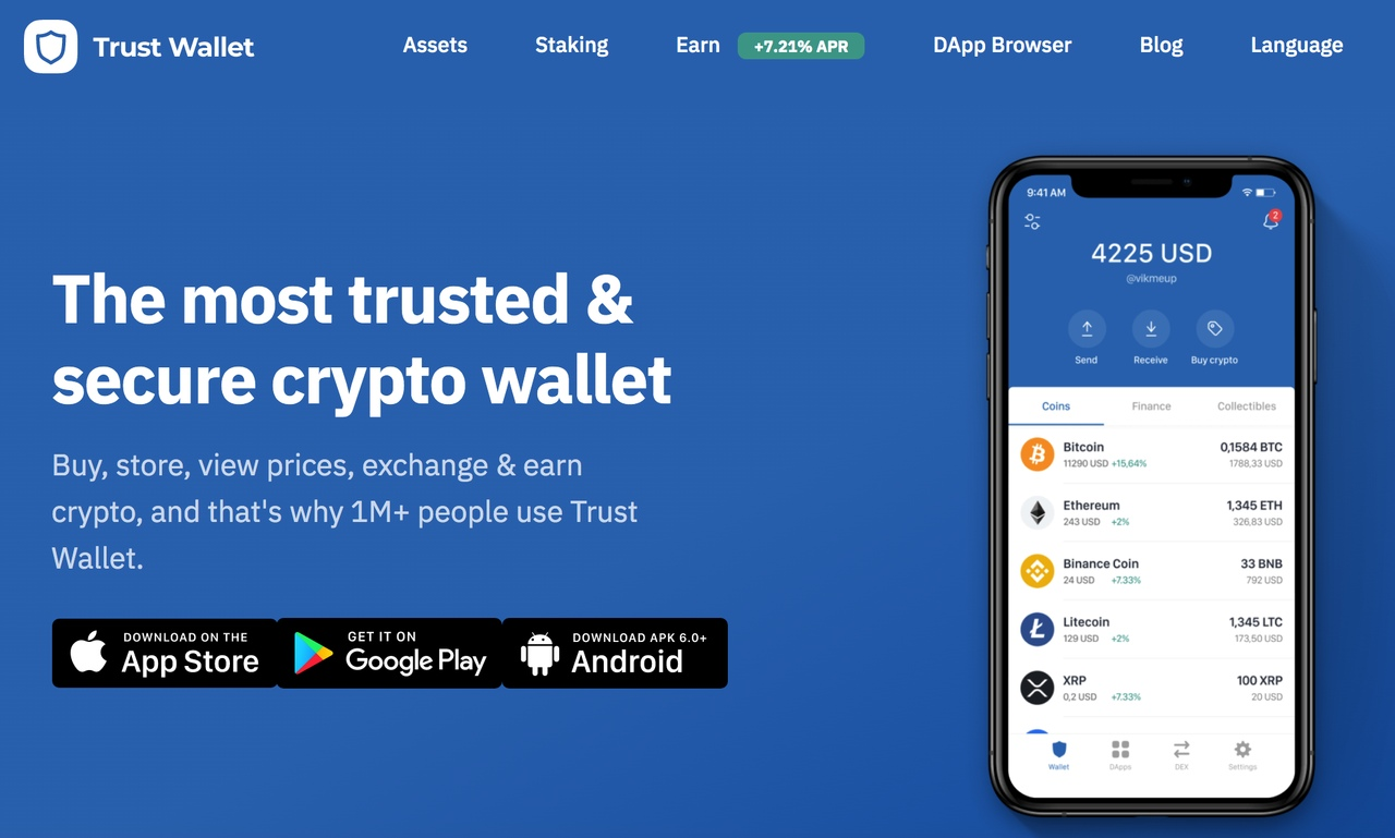 Trust wallet for crypto
